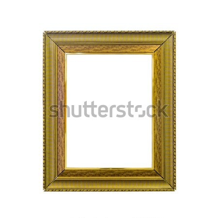 Golden vintage photo frame isolated on white Stock photo © jiaking1