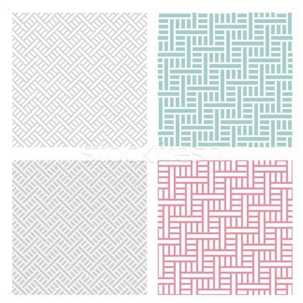 Mértani puzzle minta négy szín szett Stock fotó © jiaking1