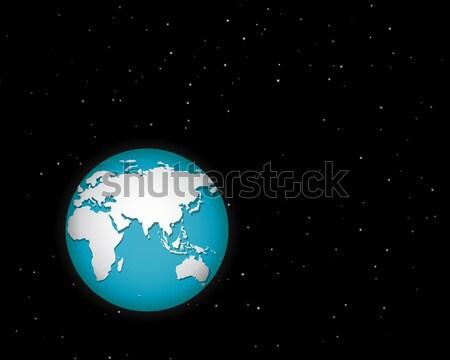 Mundo espacio muchos estrellas aislado vector Foto stock © jiaking1
