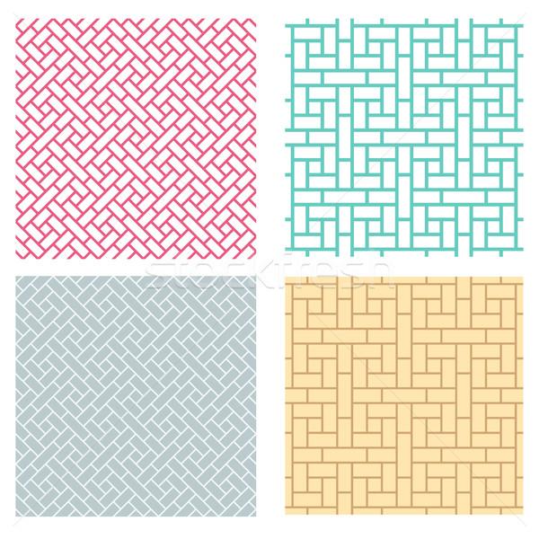 Seamless geometric line pattern in Chinese style Stock photo © jiaking1