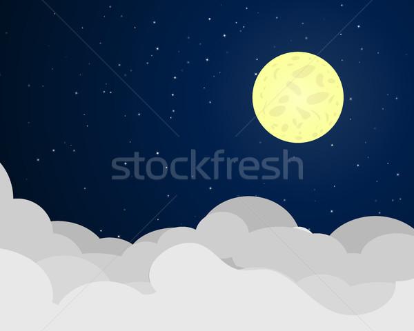 Nacht volle maan vector hemel licht Stockfoto © jiaking1