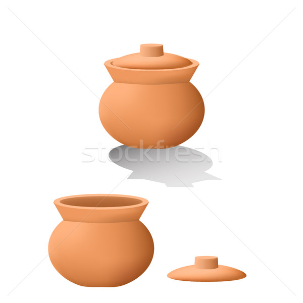 Traditioneel asian klei pot 3D Stockfoto © jiaking1