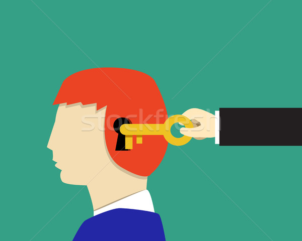 Garçon enfants psychologie lire visage homme Photo stock © jiaking1