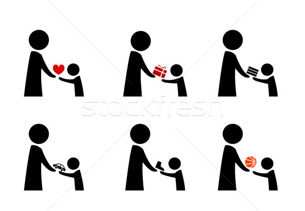 Set of donation and charity icon in vector Stock photo © jiaking1