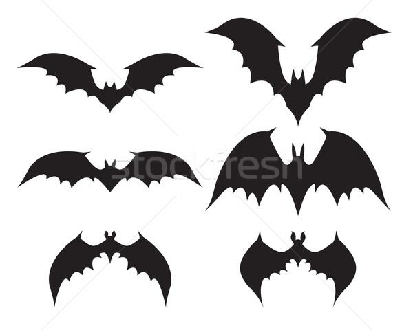 Sziluett denevér nagy szárnyak vektor fekete Stock fotó © jiaking1