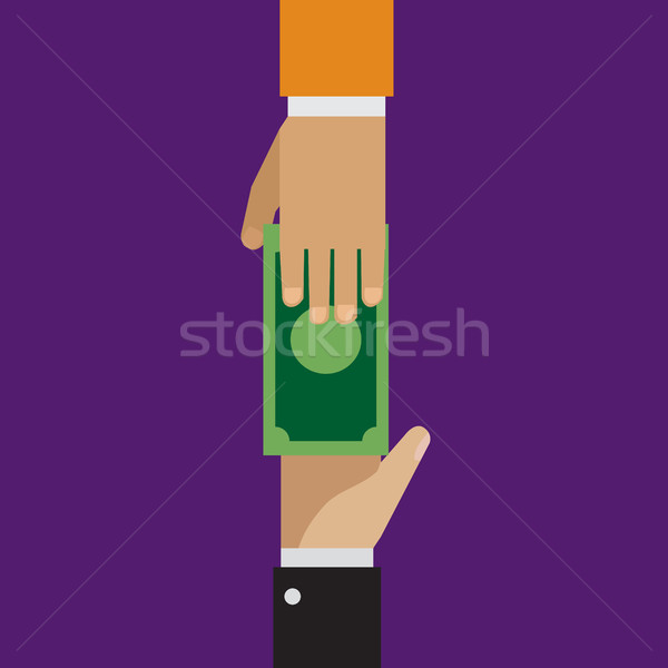 Trading, loaning money, corruption in flat style Stock photo © jiaking1
