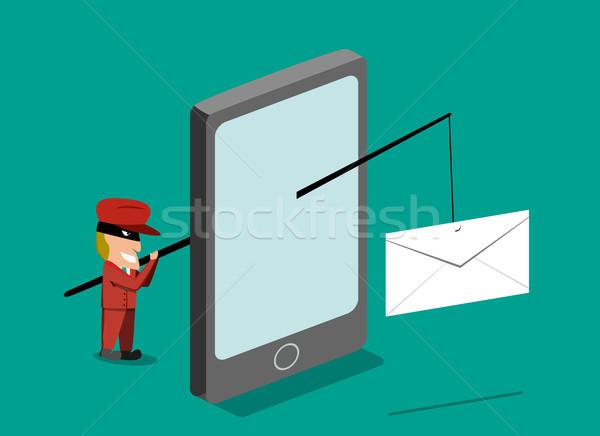 Enviar phishing e-mail telefone móvel vetor Foto stock © jiaking1
