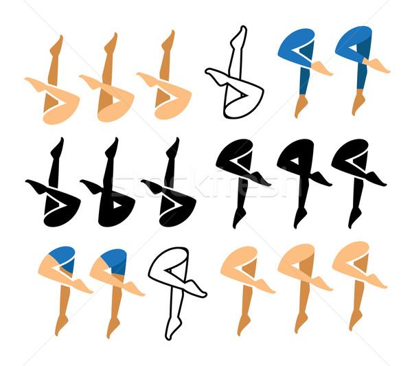 úszik ikon szimbólum sok víz nők Stock fotó © jiaking1