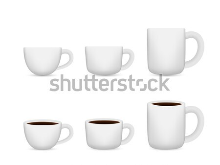 White coffee cup on white, Vector for Mock Up Stock photo © jiaking1