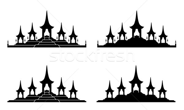 The Royal Funeral Pyre Rama 9 icon , vector design Stock photo © jiaking1