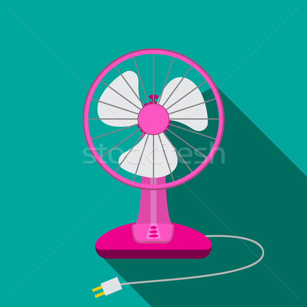 Front view of mini electric fan for home with button Stock photo © jiaking1