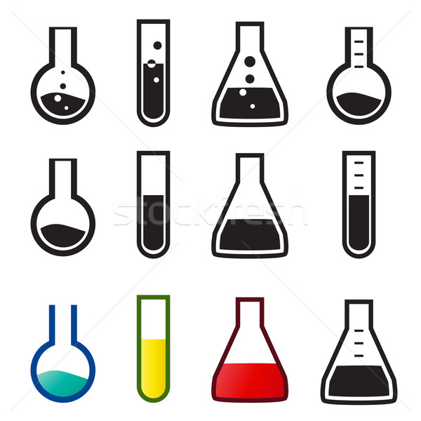 Chemical and lab icons, Vector Stock photo © jiaking1