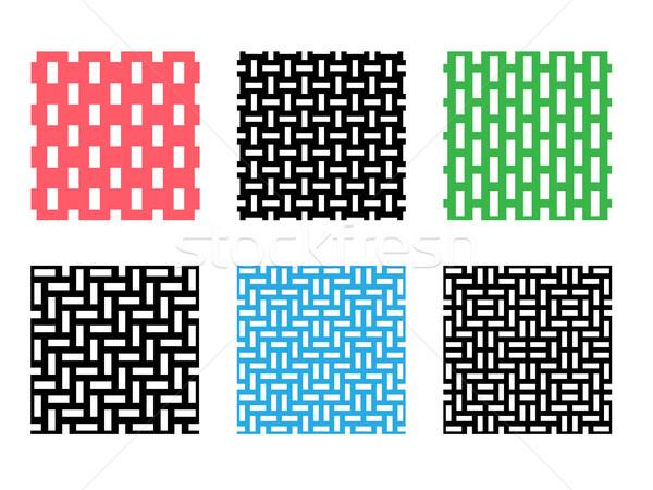Ayarlamak piksel model beyaz vektör Stok fotoğraf © jiaking1