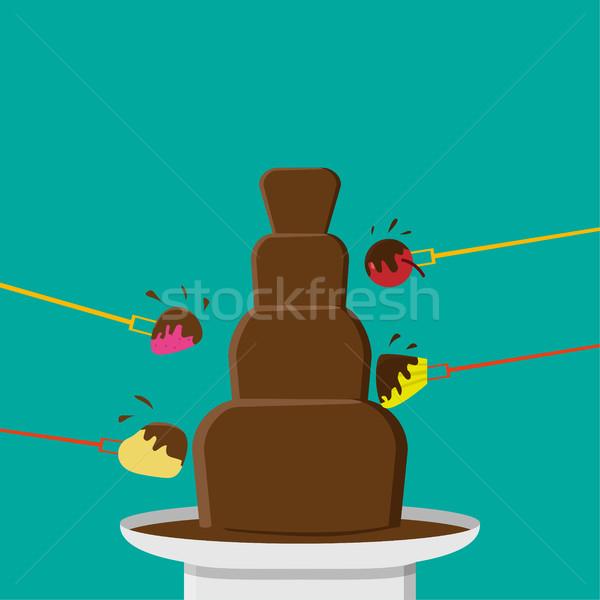 Csokoládé buli stílus vektor terv étel Stock fotó © jiaking1