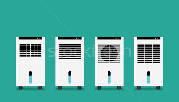Set of Mist fan in flat style, front view, vector Stock photo © jiaking1
