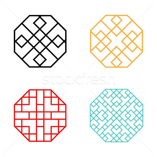 набор шестиугольник шаблон вектора стены Сток-фото © jiaking1