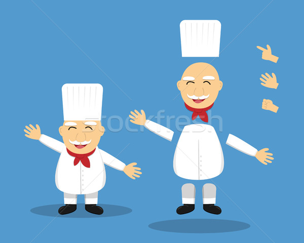 Cartoon altos chef animación vector Foto stock © jiaking1