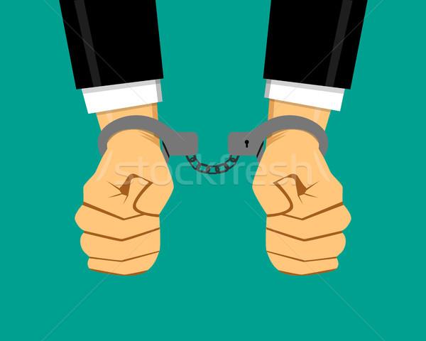 Businessman in handcuffs, vector Stock photo © jiaking1