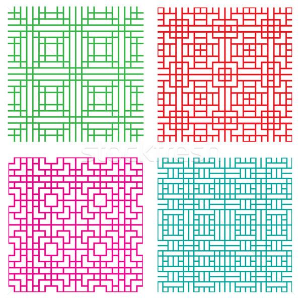 Sin costura geométrico línea patrón japonés estilo Foto stock © jiaking1