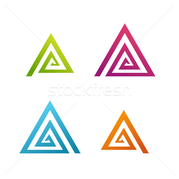 Negocios resumen espiral triángulo icono ciencia Foto stock © jiaking1