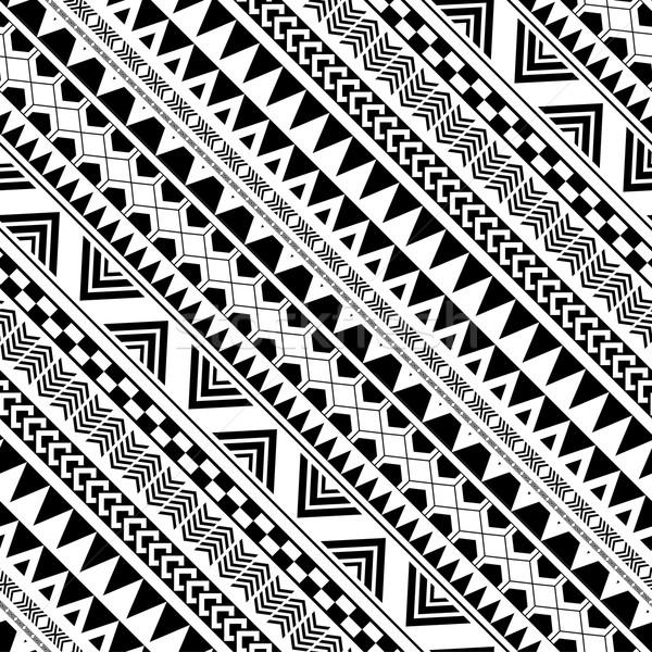 Diagonal patrón geométrico nativo indio estilo resumen Foto stock © jiaking1