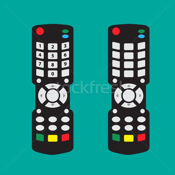 Moderna control remoto flecha botón número no Foto stock © jiaking1
