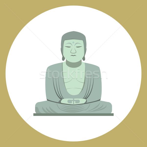Будду статуя Япония икона глаза Сток-фото © jiaking1