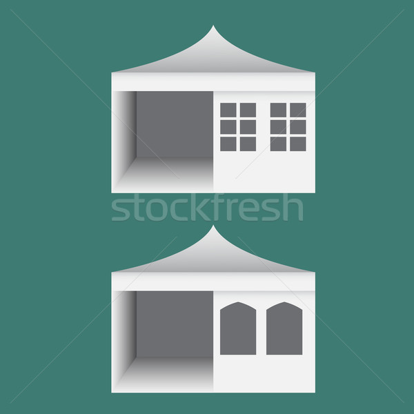 Folding tent with windows in europe style Stock photo © jiaking1