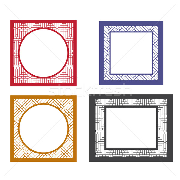 Set of retro blank picture frame template Stock photo © jiaking1