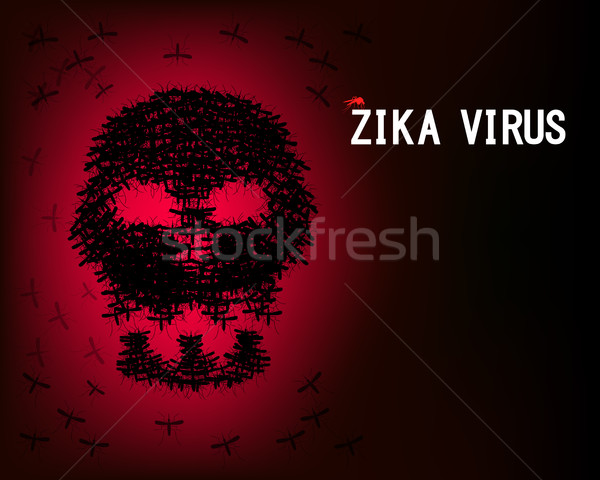 Virus behang schedel mug vector medische Stockfoto © jiaking1