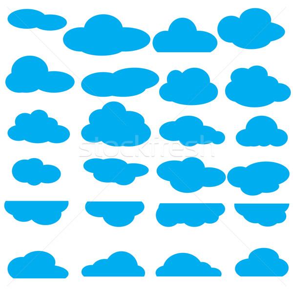 Zestaw chmury ikona kolekcja streszczenie charakter Zdjęcia stock © jiaking1