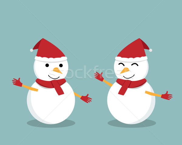 Aislado feliz muñeco de nieve presentación vector diseno Foto stock © jiaking1