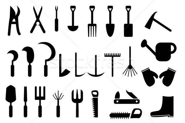 Set of Garden hand tools icon Stock photo © jiaking1