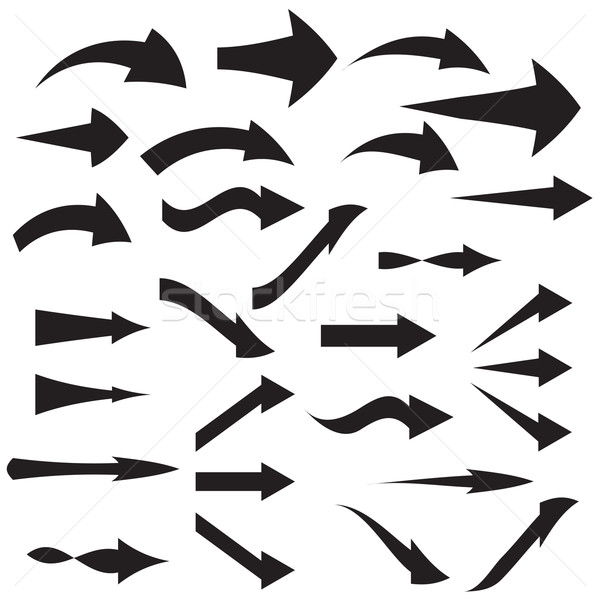 Set of curved arrow icons Vector illustration Stock photo © jiaking1