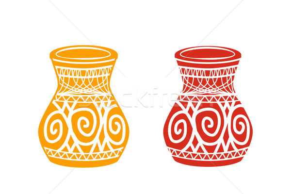 Oude Tribal aardewerk winkel icon vector Stockfoto © jiaking1