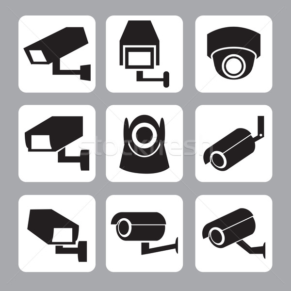 Collection of CCTV and security camera vector icon Stock photo © jiaking1
