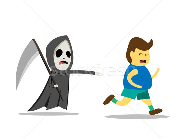 Death is the best motivation for weight loss Stock photo © jiaking1