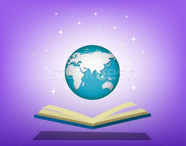 Libro abierto abierto mundo vector diseno libro Foto stock © jiaking1