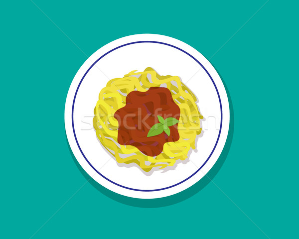 Spaghetti bolognese isolated on white vector Stock photo © jiaking1