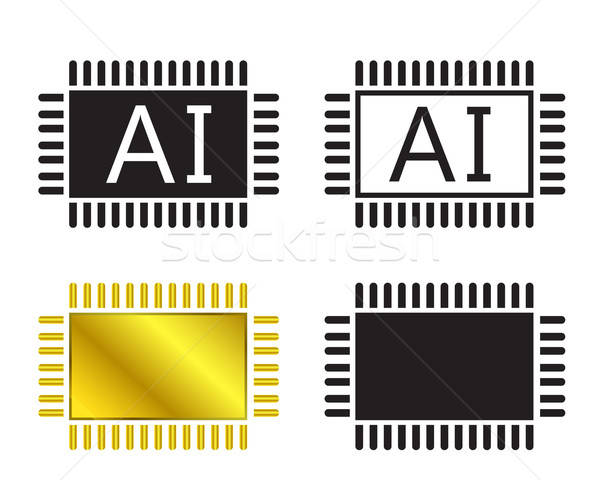 AI system icon and cpu symbo Stock photo © jiaking1