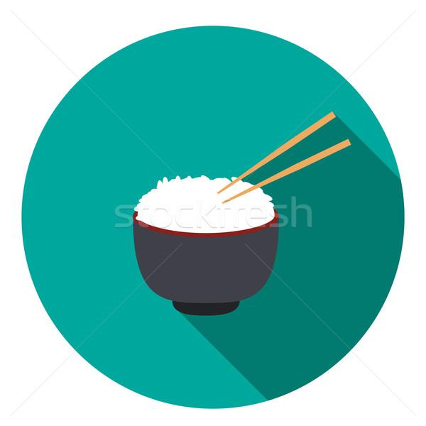 ボウル コメ ペア 箸 ベクトル 食品 ストックフォト © jiaking1