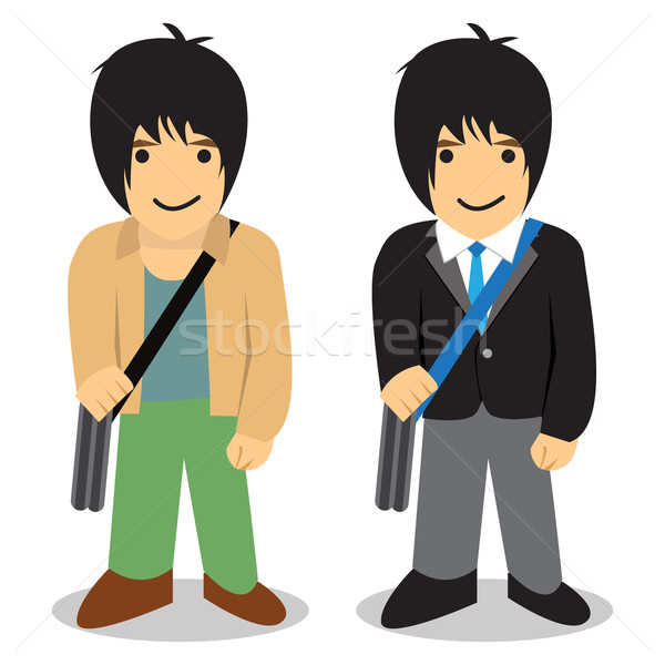 Gemelo hombre independiente vs oficina vector Foto stock © jiaking1