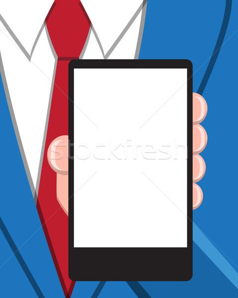 Hombre de negocios vacío Screen oficina libro Foto stock © jiaking1
