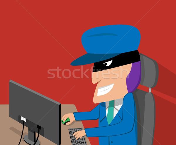 Feliz piratería vector Cartoon Foto stock © jiaking1