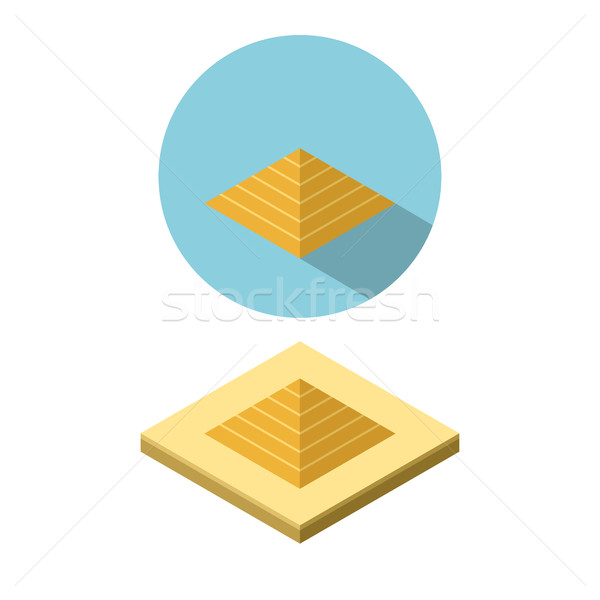 Piramit ikon izometrik stil vektör dizayn Stok fotoğraf © jiaking1