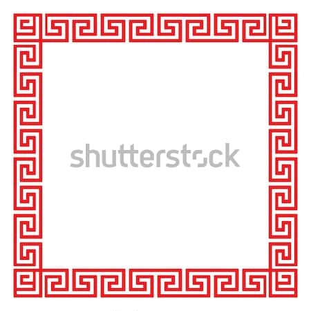 chinese decorative square frame vector illustration chatree