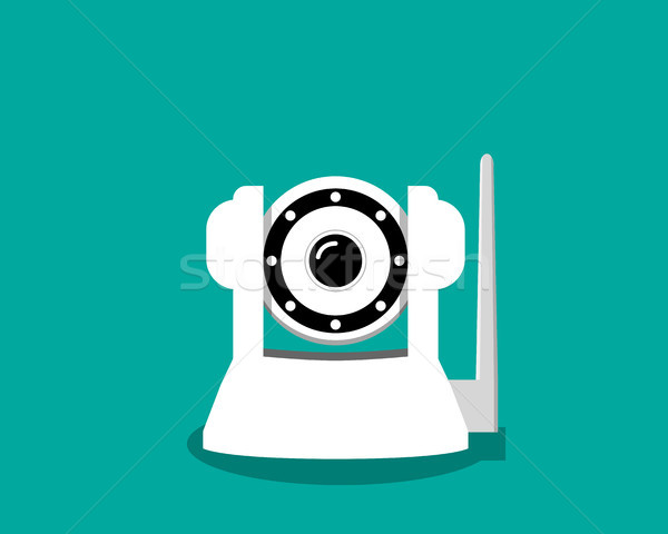 White IP camera in flat style, vector Stock photo © jiaking1