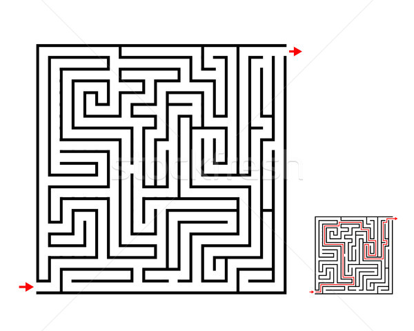 Maze and labyrinth game, vector design on white Stock photo © jiaking1