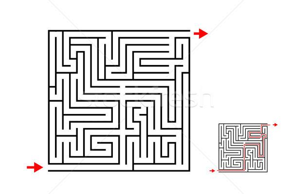 Labirintus labirintus játék vektor terv fehér Stock fotó © jiaking1