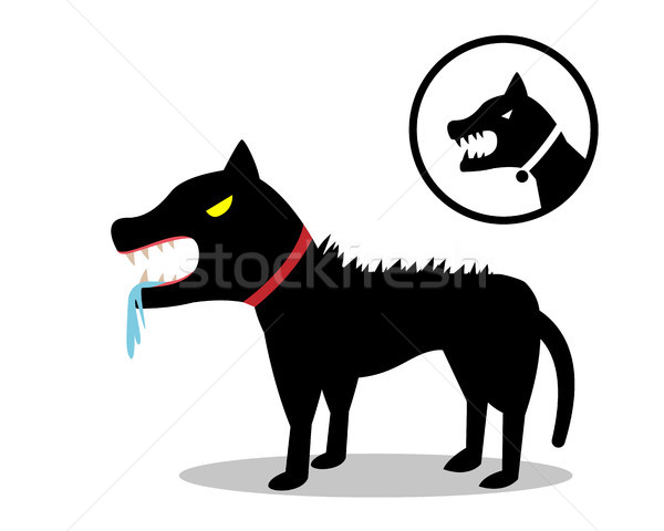 Kutya stílus ikon vektor terv háttér Stock fotó © jiaking1